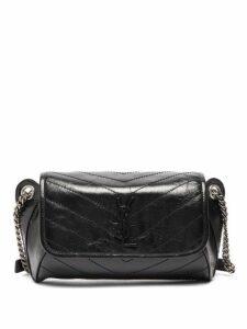 Saint Laurent - Niki Crackled Leather Cross Body Bag - Womens - Black