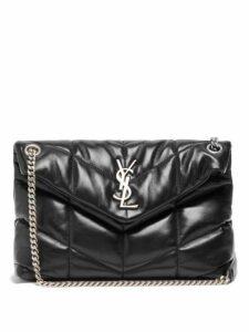 Saint Laurent - Loulou Puffer Small Leather Shoulder Bag - Womens - Black