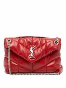 Saint Laurent - Loulou Puffer Small Leather Shoulder Bag - Womens - Red