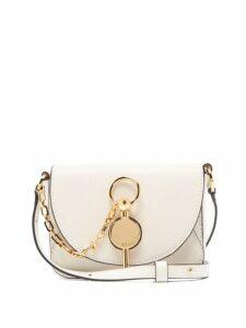Jw Anderson - Nano Keyts Leather Cross Body Bag - Womens - White