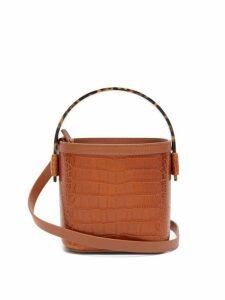 Nico Giani - Adenia Crocodile Embossed Mini Bucket Bag - Womens - Tan
