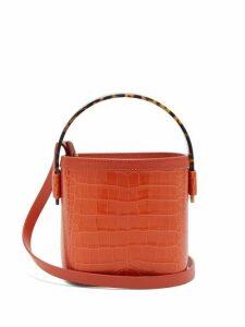 Nico Giani - Adenia Mini Croc Effect Leather Bucket Bag - Womens - Orange