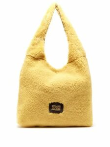 Aries - Large Shearling Tote Bag - Womens - Beige