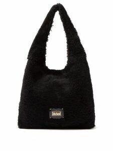 Aries - Large Shearling Tote Bag - Womens - Black