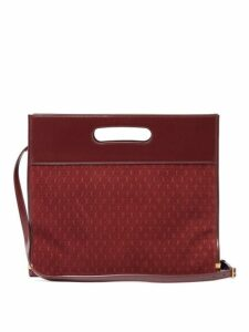 Saint Laurent - Monogram Suede And Leather Tote Bag - Womens - Burgundy