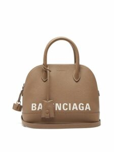 Balenciaga - Ville Small Leather Cross Body Bag - Womens - Mid Beige