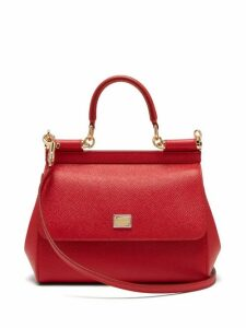 Dolce & Gabbana - Sicily Small Leather Cross Body Bag - Womens - Red