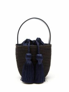 Cesta Collective - Party Pail Woven Sisal Bag - Womens - Navy