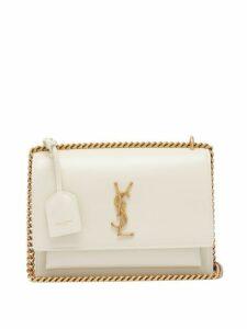 Saint Laurent - Sunset Medium Leather Cross Body Bag - Womens - White
