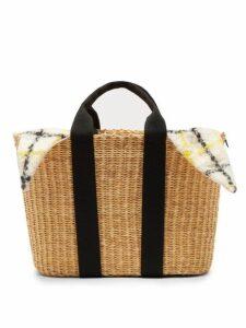 Muuñ - Caba Straw Bag - Womens - Yellow Multi