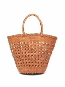Dragon Diffusion - Cannage Myra Woven Basket Bag - Womens - Tan
