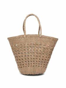 Dragon Diffusion - Myra Woven Leather Basket Bag - Womens - Khaki