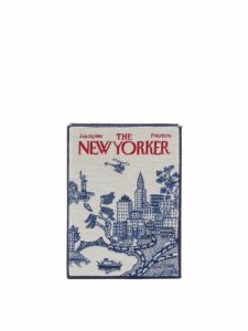 Olympia Le-tan - The New Yorker Cotton Blend Book Clutch Bag - Womens - White Multi