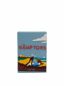 Olympia Le-tan - The Hamptons Canvas Clutch Bag - Womens - Blue Multi