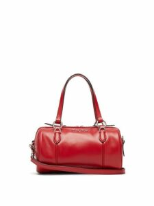 Miu Miu - Small Leather Bowling Bag - Womens - Red