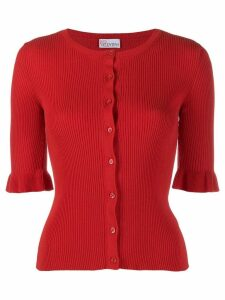 Red Valentino ribbed round neck cardigan