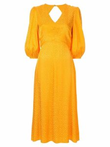 Rebecca Vallance Isobella flared midi dress - Yellow