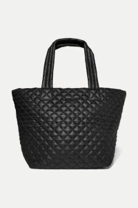 MZ Wallace - Metro Quilted Shell Tote - Black