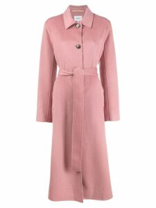 Nanushka single-breasted belted coat - Pink