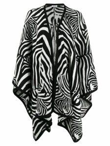 P.A.R.O.S.H. zebra print flared cardigan - White