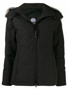 Canada Goose coyote fur hooded short coat - Black