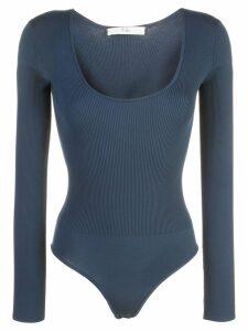 Tibi ribbed knit bodysuit - Blue