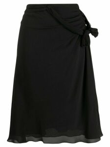 Christian Dior Pre-Owned ruffle sheer skirt - Black