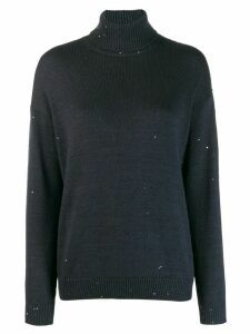 Brunello Cucinelli turtle neck jumper - Blue