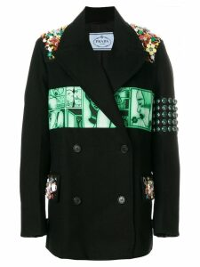 Prada logo patch blazer - Black