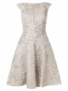 Talbot Runhof jacquard dress - Neutrals