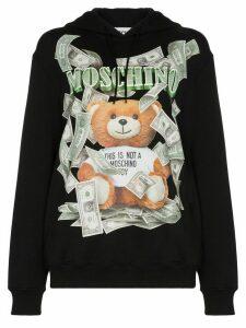 Moschino Bear print hoodie - Black