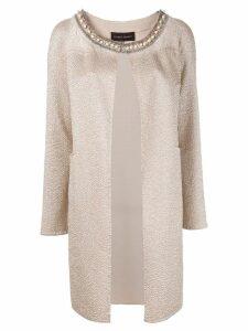Talbot Runhof Duna coat - Neutrals