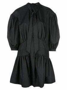 Simone Rocha ballon sleeve mini-dress - Black