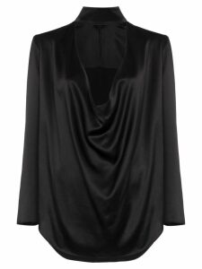 Michael Lo Sordo draped-front blouse - Black