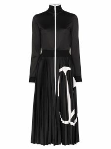 Valentino VLOGO pleated midi dress - Black