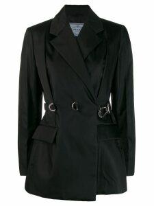 Prada belted gabardine blazer - Black
