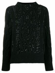Ermanno Scervino cable knit turtleneck jumper - Black