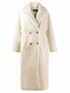 Numerootto double breasted coat - PINK