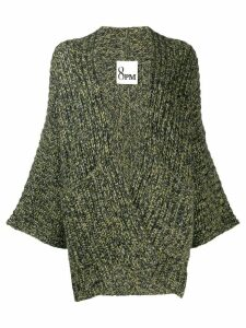 8pm Ercole melange chunky cardigan - Green