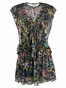 Iro Kleid print mini dress - Black