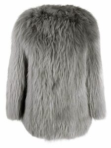 Numerootto shaggy coat - Grey