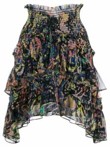 IRO Rock print high-waisted skirt - Black