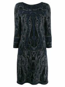 Etro paisley pattern knit dress - Grey