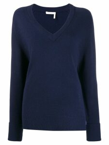 Chloé V-neck cashmere sweater - Blue