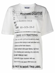 Moschino Army Label jersey T-shirt - White