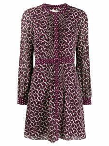 Michael Michael Kors geometric georgette shirt dress - PURPLE