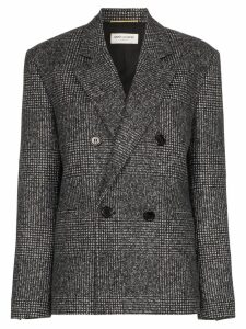 Saint Laurent double-breasted tweed blazer - Grey