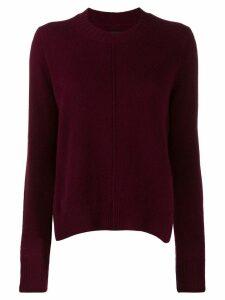 Isabel Marant raised seam jumper - Red