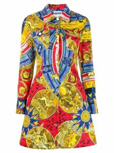 Moschino fantasy print shirt dress - Red