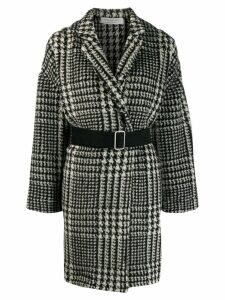 Philosophy Di Lorenzo Serafini houndstooth pattern coat - Black
